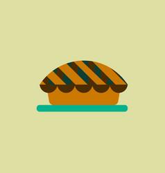 Pie icon delicious pie vector