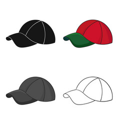 Golf cap icon in cartoon style isolated on white vector