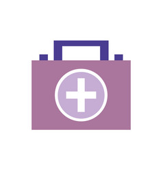 Briefcase and first aid kit urgency vector