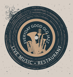 Banner for restaurant with live music vector