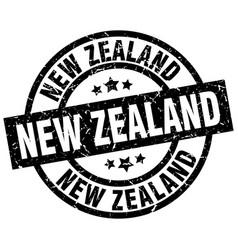 New zealand black round grunge stamp vector