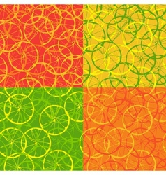 Seamless pattern of citrus fruit vector