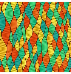 Seamless wave hand-drawn pattern waves background vector
