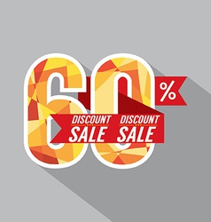 Discount 60 percent off vector