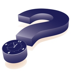 Question mark clock vector
