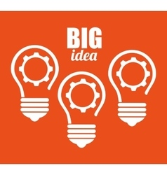 Big idea creative and intelligence vector