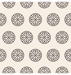 Ornate stripped geometric seamless pattern vector