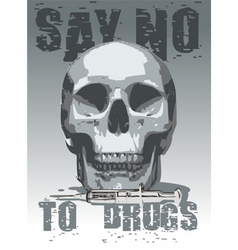 Anti-drugs icon vector