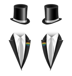 Gay couple wedding vector