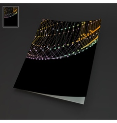 Textbook booklet notebook mockup 3d grid vector