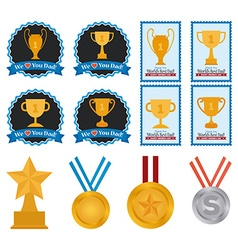 Set of trophies and medals vector
