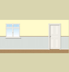 A room with door and window seamless vector