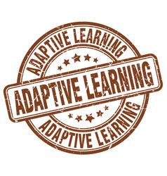 Adaptive learning brown grunge stamp vector