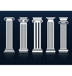 Ancient columns set vector image