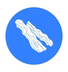 Bacon icon in black style isolated on white vector