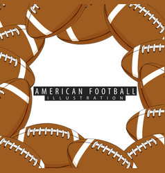 balls for american football closeup vector image vector image