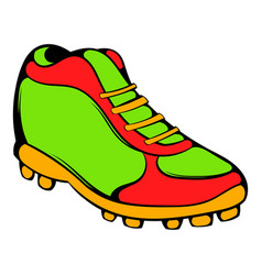 baseball boot icon icon cartoon vector image vector image