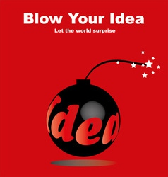 blow your idea vector image