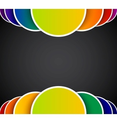 Bright abstract background with colorful circles vector image