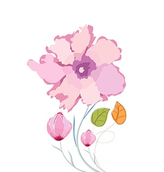 Colorful poppy flowers watercolor vector