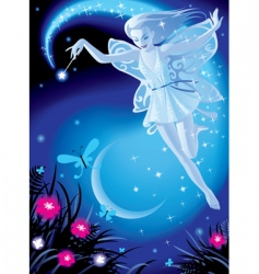 fairy girl vector image vector image