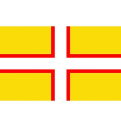 Flag of Dorset vector image
