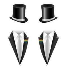 Gay couple wedding vector