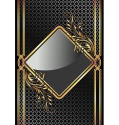golden ornament vector image vector image