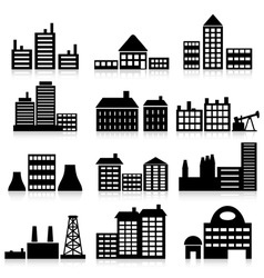 House and building icons vector