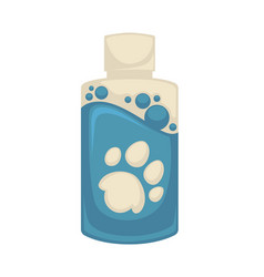 icon of pet shampoo symbol animal care vector image vector image