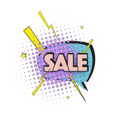 lettering sale emotion surprise pop art text vector image vector image