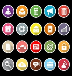 Mobile phone icons with long shadow vector image