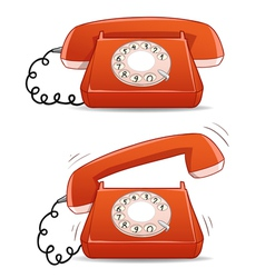 old-fashion phone vector image vector image