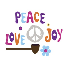 Pipe of peace love and joy vector