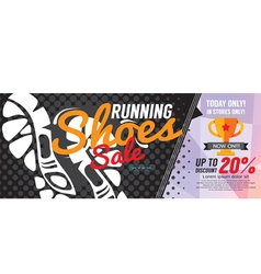 Running Shoes Sale 6250x2500 pixel Banner vector image vector image