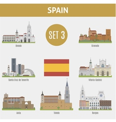 Spain cities vector image vector image