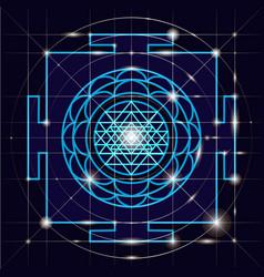 Sree yantra sacred geometry vector