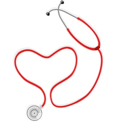 Stethoscope form the shape of heart vector