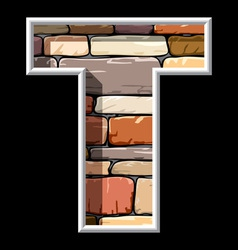 Stone letter t vector