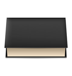 Thick book in black cover isolated on white vector