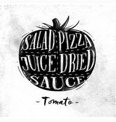 Tomato cutting scheme vector