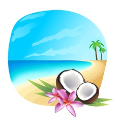 Tropic background vector