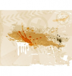 vector grunge brown background vector image vector image