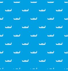 Venice gondola pattern seamless blue vector