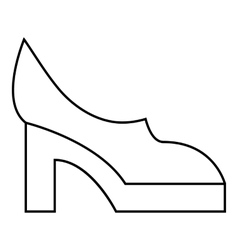 Women shoes icon outline style vector