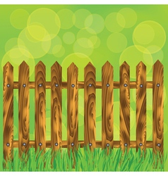 wood fence vector image