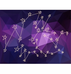 Stars constellations in universe vector