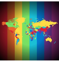 Multicolored world map vector