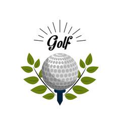 Emblem golf game icon vector