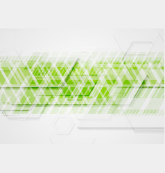 Bright green abstract technology background vector